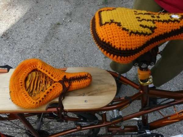 Bird-Flipping Bike Cushions