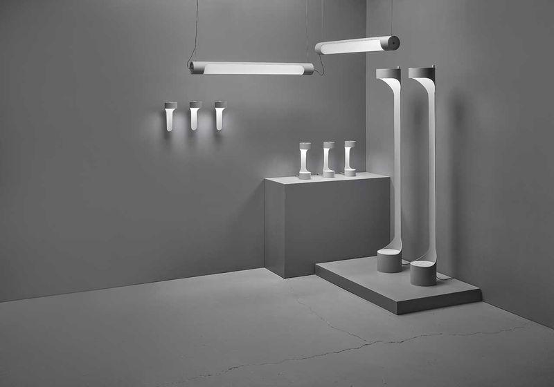 Gray-Toned Aluminum Tube Lighting