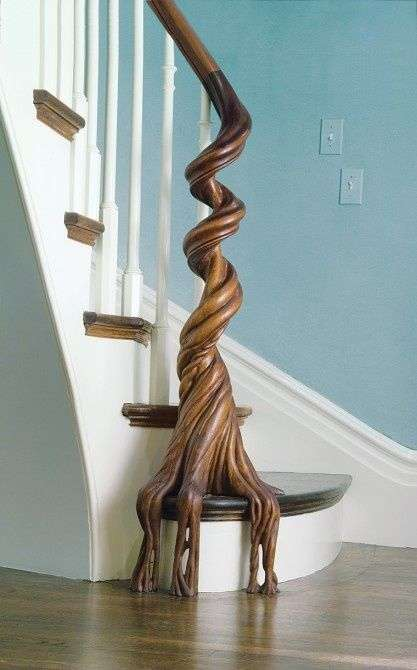 Beautiful Organic Banisters