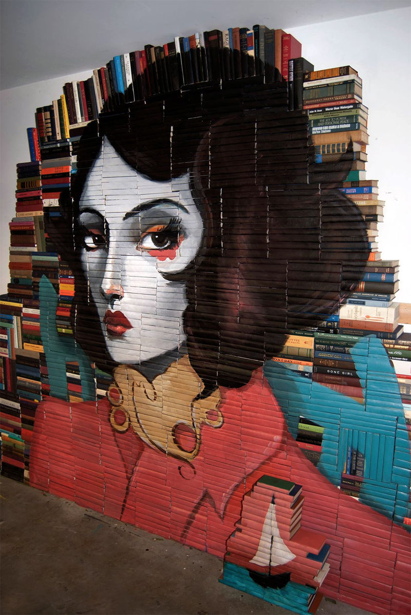 Salvaged Book Paintings