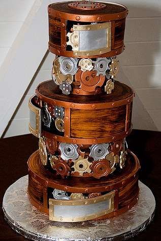 steampunk wedding cakes steampunk wedding cakes mike s amazing cakes makes metal 20518