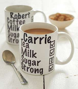 Personalized Caffeine Cups