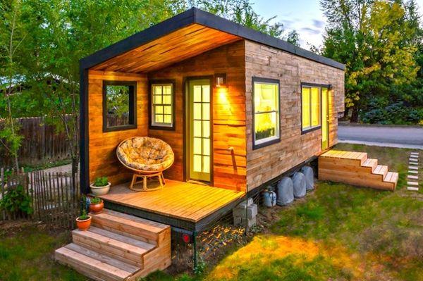 miniature mortgage free homes miller tiny house. Black Bedroom Furniture Sets. Home Design Ideas