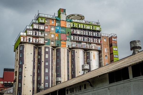 Upcycled Shipping Container Dorms