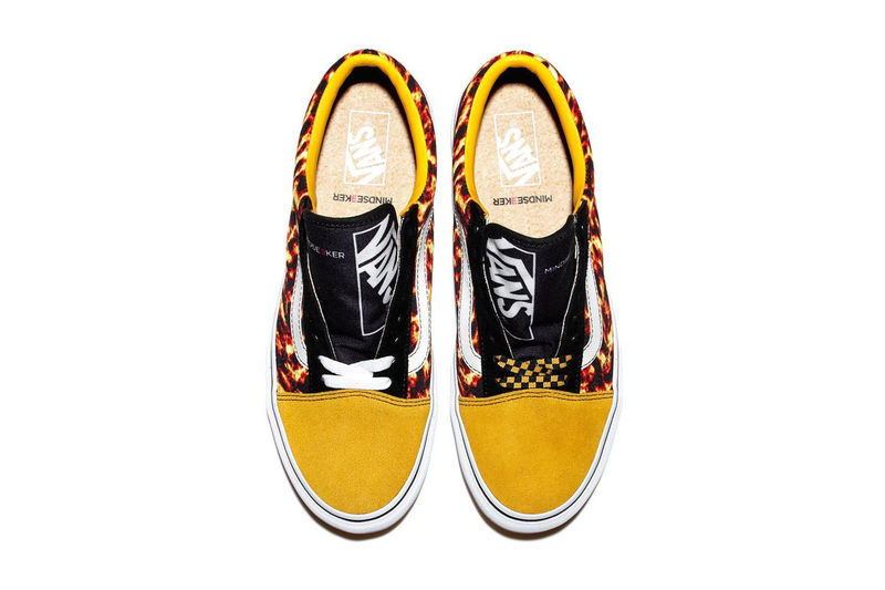 Flame-Printed Canvas Sneakers