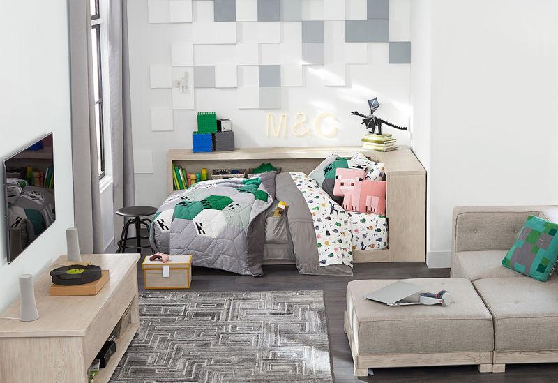 Blocky Bedroom Decor