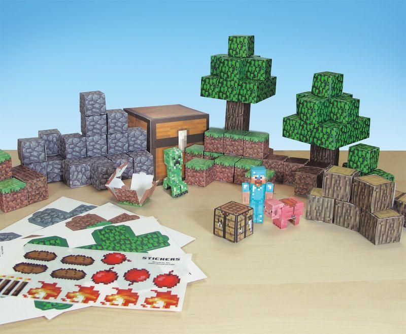 8 Bit Block Playsets Minecraft Toy