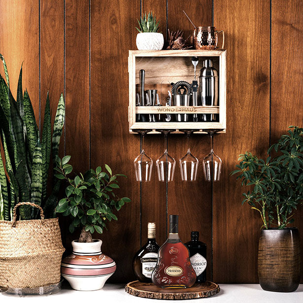 Compact Wall-Mounted Bartender Kits