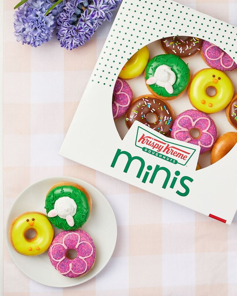 Spring-Themed Mini Donuts