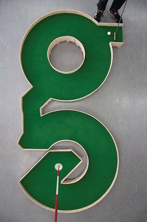 Typographic Mini Golf Courses
