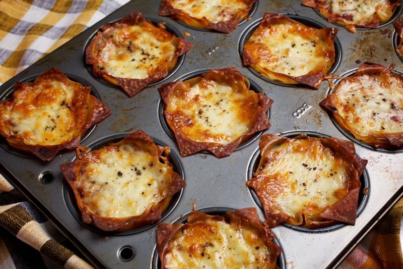 Snack-Sized Lasagna Cups