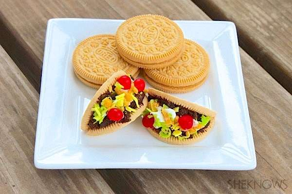 Cute Cinco De Mayo Confections Mini Taco Cookies