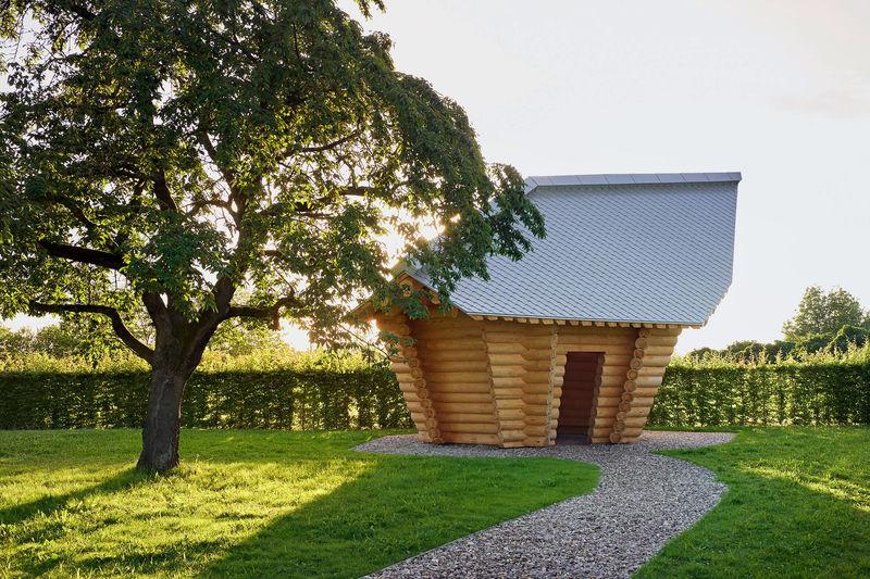 Artist-Created Miniature Log Cabins