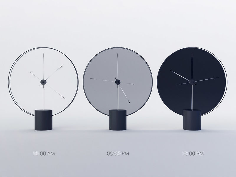 Shade-Shifting Clock Designs