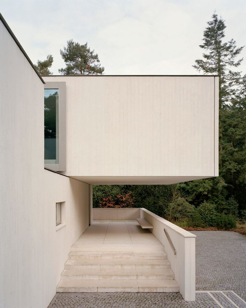 Geometric Minimalist Concrete Houses Minimalist Concrete House