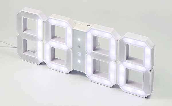 Digit-Shaped LED Clocks