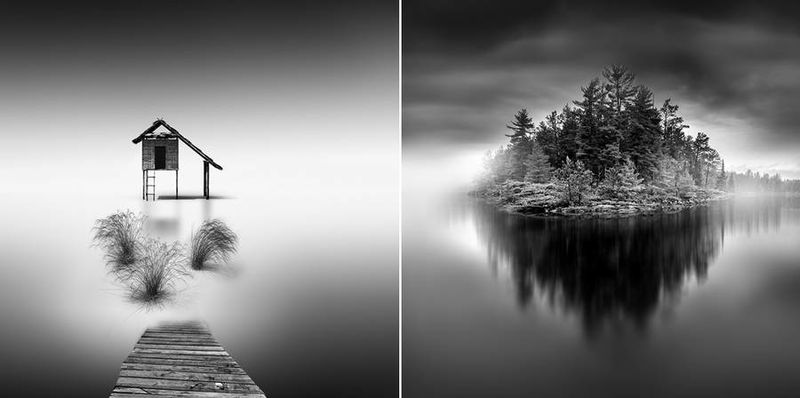 Long exposure landscape photography