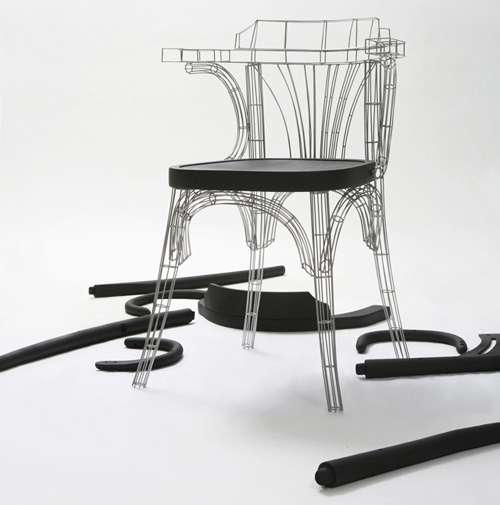 Minimalist Wire-Like Seating