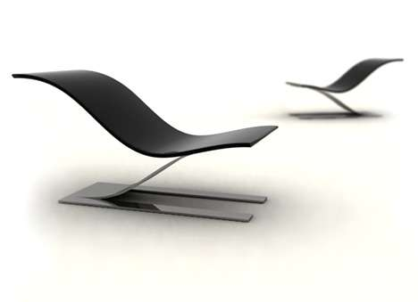 Giant Paperclip Seating – The Smooth 'Glide' Chair Offers Relaxation Through Simplicity