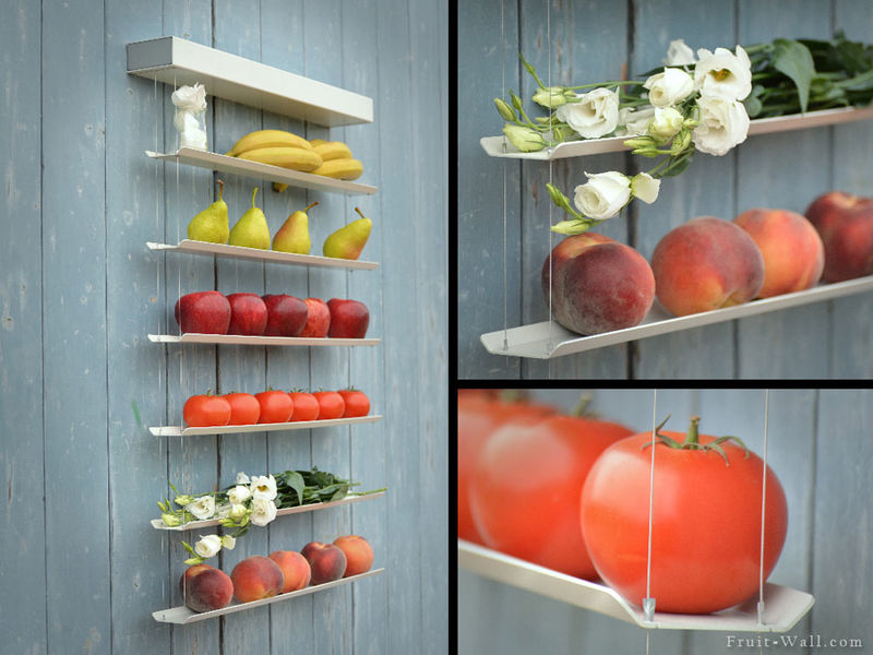 Fruit-Lined Shelving