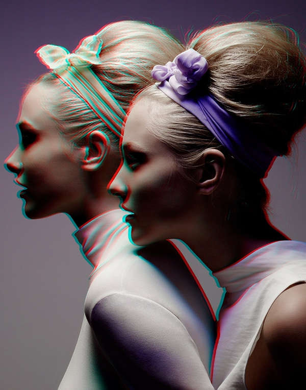 3D-Inspired Beauty Photoshoots