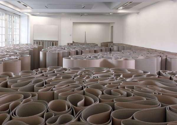 Cardboard Maze Exhibits