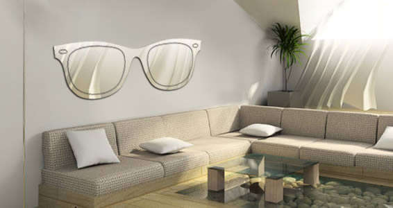 Reflective Eyewear Wall Decals