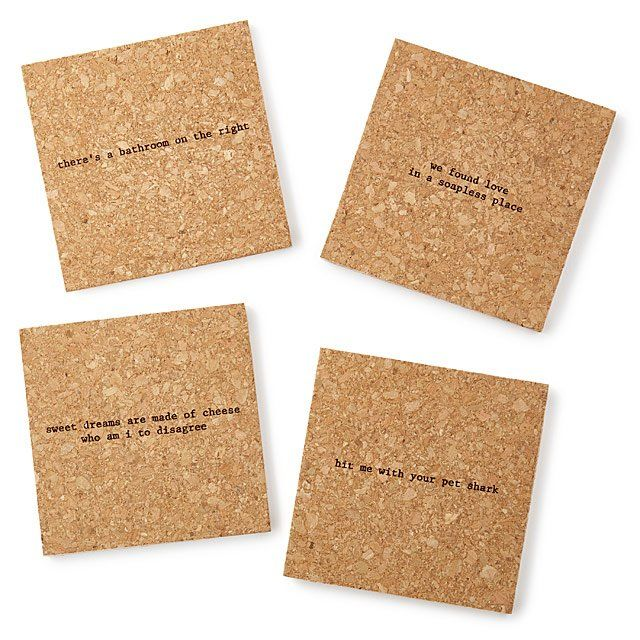 Ironic Music-Themed Coasters