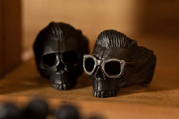 Masculine Ghoulish Skull Jewelry