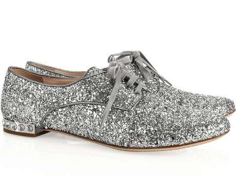 043760cd32e3 Haute Sparkly Shoes   miu miu glitter