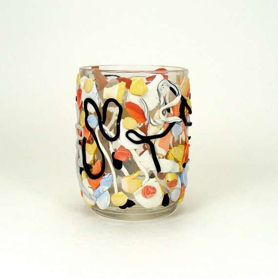 Abstract Expressionist Glassware