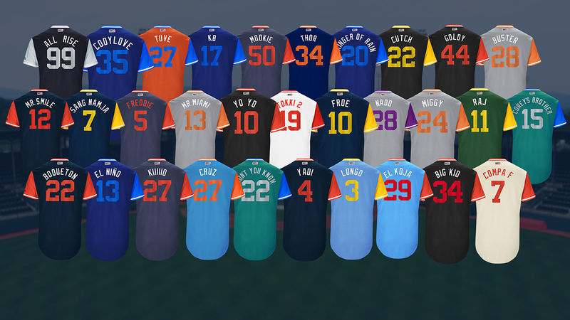 Nicknamed Baseball Jerseys
