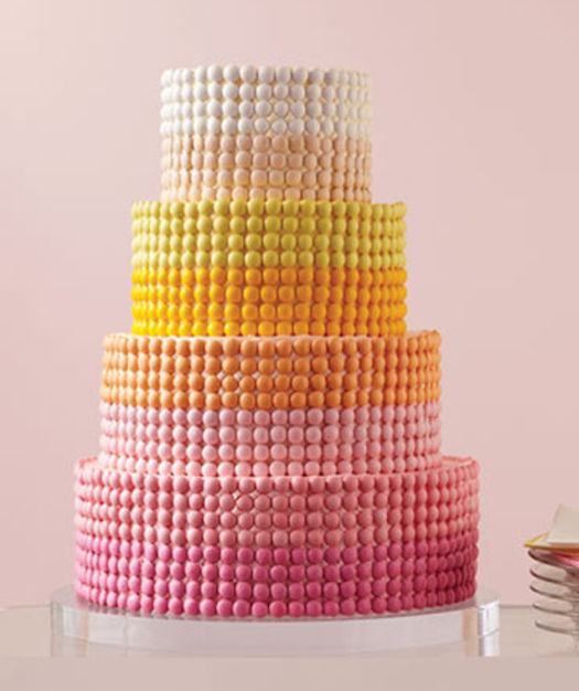 Pastel Candy-Covered Cakes
