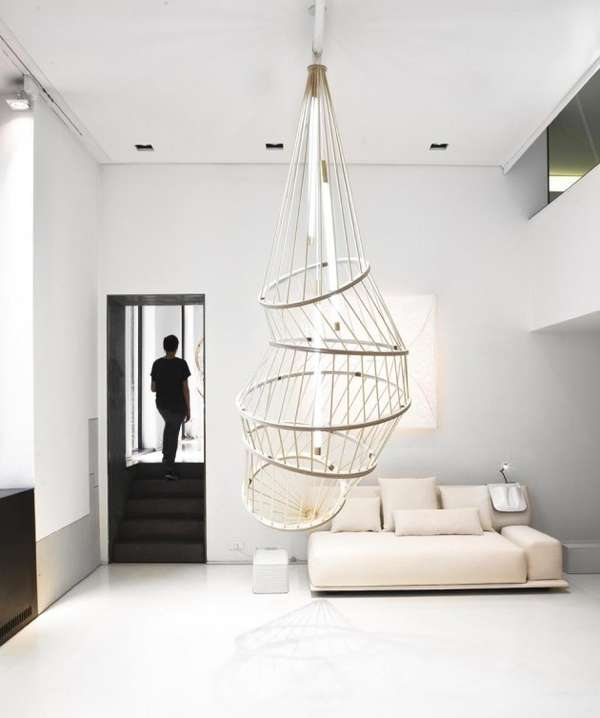 Caged Ceiling Chandeliers
