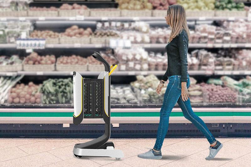 Self-Navigating Shopping Carts