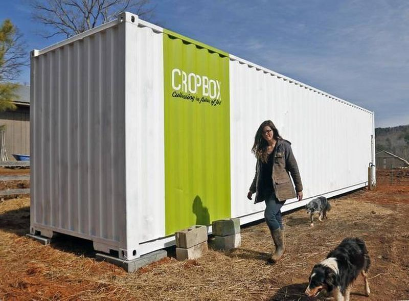 Shipping container gardens mobile farming for Grow room software