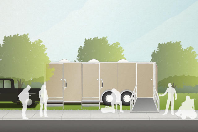 Homeless Laundry Trailers