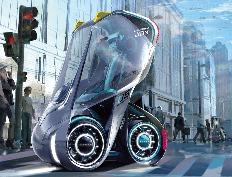 Shapeshifting Cityscape Transportation Vehicles