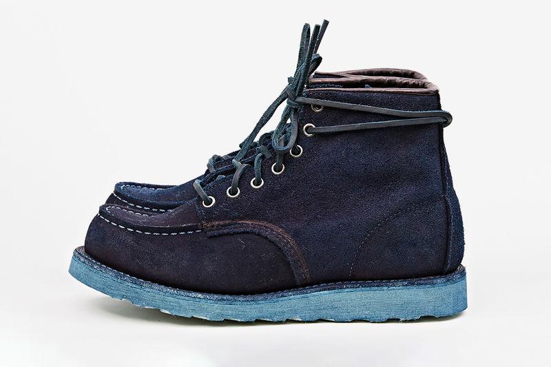 Hand-Dyed Indigo Boots
