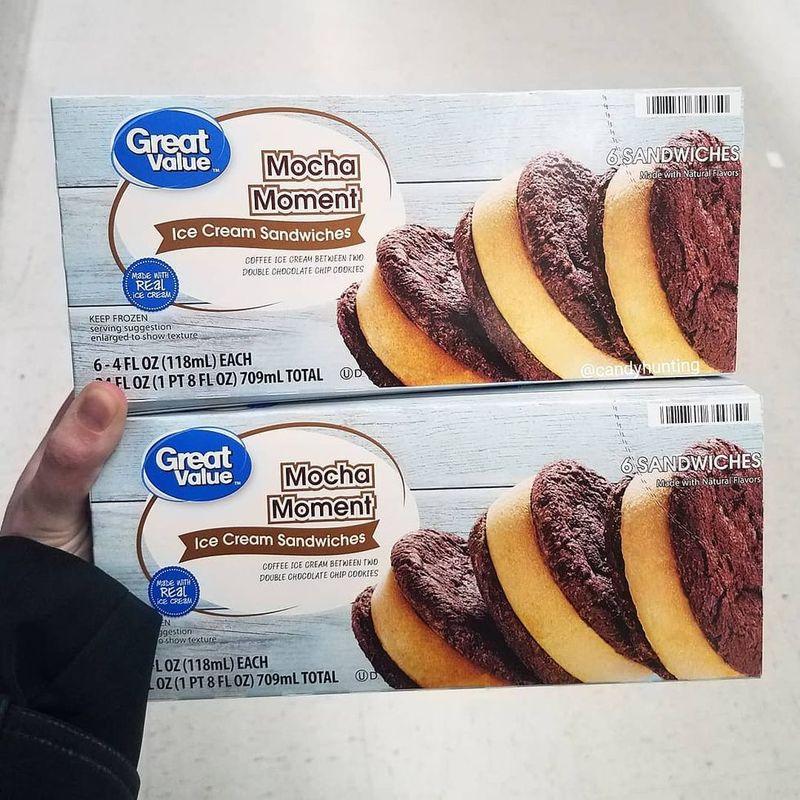 Mocha-Flavored Ice Cream Sandwiches