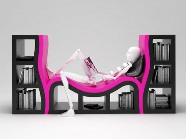 bed-like modern bookshelves : modern bookshelves