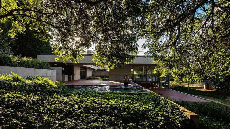 Green-Roofed Modern Brazilian Houses