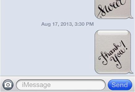 Hand-Scrawled SMSs