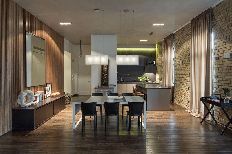 Industrial urban abodes modern loft apartment for Modern loft apartment