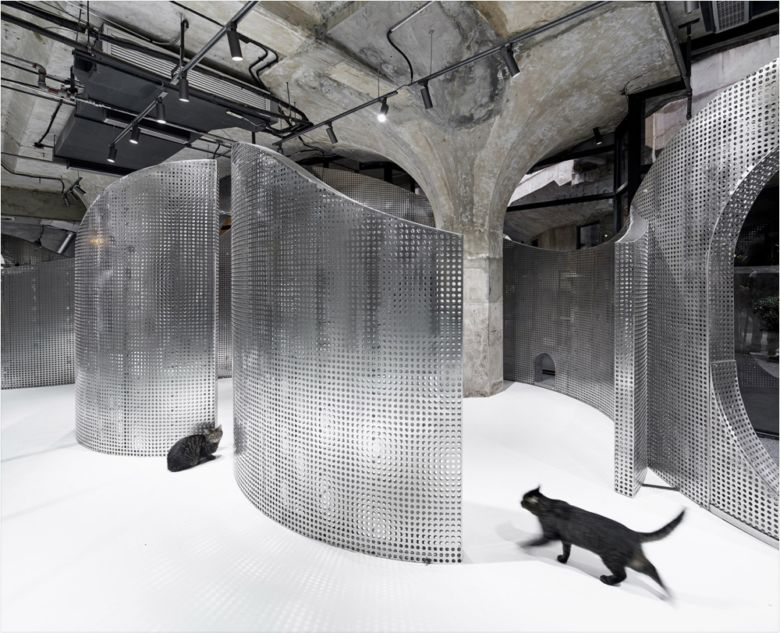Sculptural Metallic Pet Shops