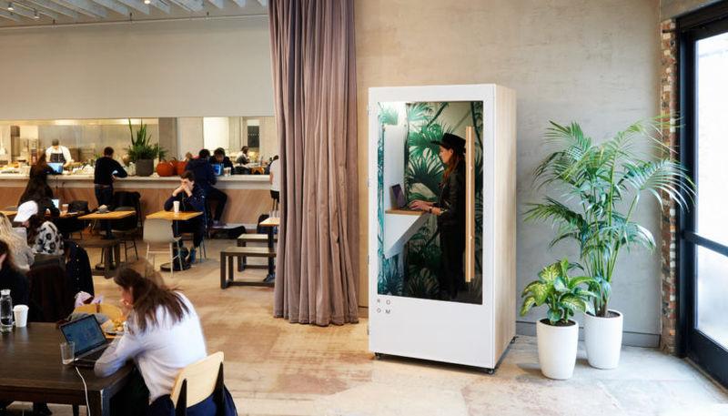 Stylishly Modern Phone Booths