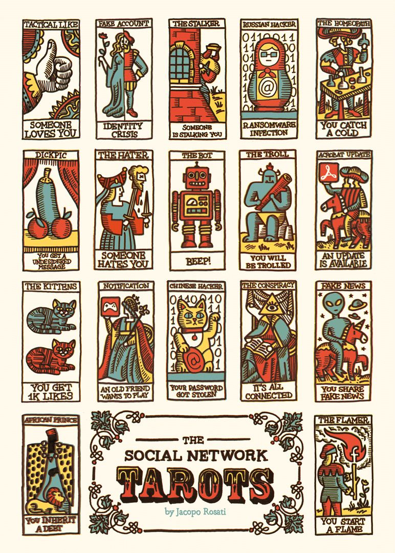 Tarot Cards And Important Life Events: Social Media-Inspired Tarot Cards : Modern Tarot