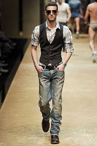 Tux Vested Denim: Spring 2010 Menswear Blends Cowboy and ...