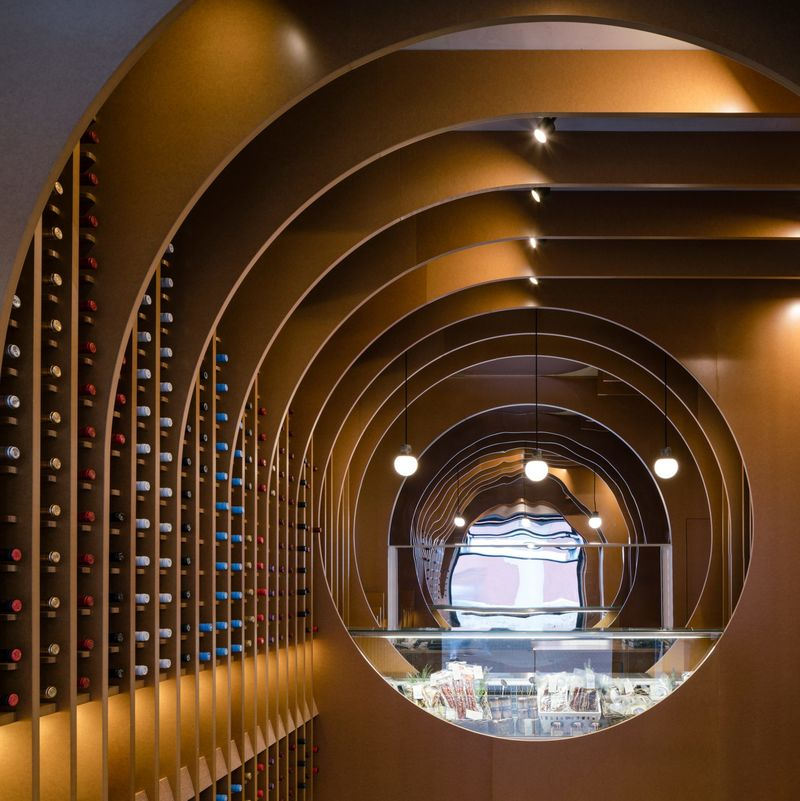 Contemporary Cave-Like Wine Shops