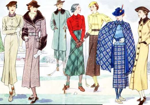 1930s French Fashion Art